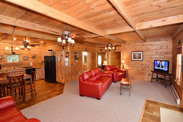 Little Bear Lodge at Black Bear Lodges Living Area